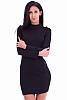 Едноцветна дамска рокля с акцент по рамената