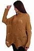 Стилен дамски свободен пуловер ламе