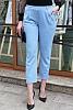 Стилен едноцветен дамски панталон с 9/8 дължина