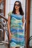 Ленена цветна свободна дамска рокля