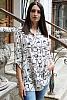 Ефектна дамска блуза на лица с издължена задна част