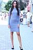 Едноцветна дамска рокля фино плетиво