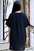 Памучна едноцветна дамска блуза/туника с къси ръкави