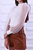 Стилни кожени дамски панталонки с колан с катарама
