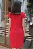 Едноцветна дамска рокля с къси ръкави