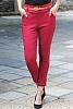 Елегантен еластичен дамски панталон с колан