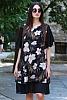 Флорална шифонена дамска рокля с къси ръкави
