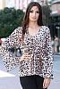 Стилна дамска блуза с животински шарки