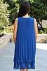 едноцветна шифонена дамска рокля солей