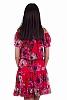Шифонена флорална дамска рокля с паднали рамена