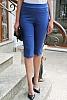 Еластичен едноцветен 3/4 панталон