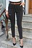 Еластичен дамски панталон на тънко райе