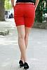 Памучен едноцветен къс панталон с колан