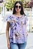 Шифонена дамска блуза с флорални мотиви