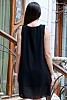 Едноцветна дамска рокля/туника с аксесоар