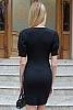 Дамска рокля фино плетиво със стилно деколте и буфан ръкави
