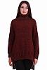 Стилен дамски ламе пуловер с поло яка