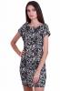 Елегантна дамска рокля с дантелен флорален мотив