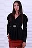 Стилна дамска блуза с катарама на талията