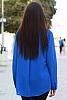 Шифонена блуза с метални акценти и издължена задна част