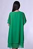 Едноцветна шифонена дамска рокля с къси ръкави